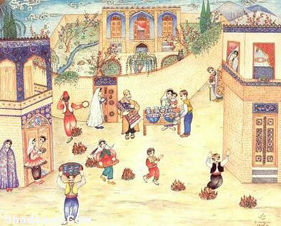 رسم و رسوم ایرانیان قدیم در چهارشنبه سوری